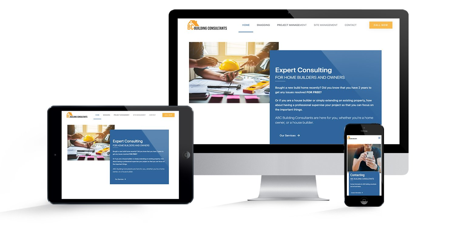Website for ABC Building Consultants
